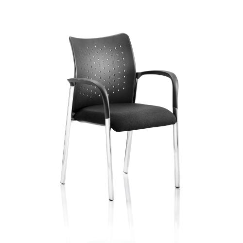 Sonix Academy Poly Back Armchair Black 460x490x460mm Ref BR000010