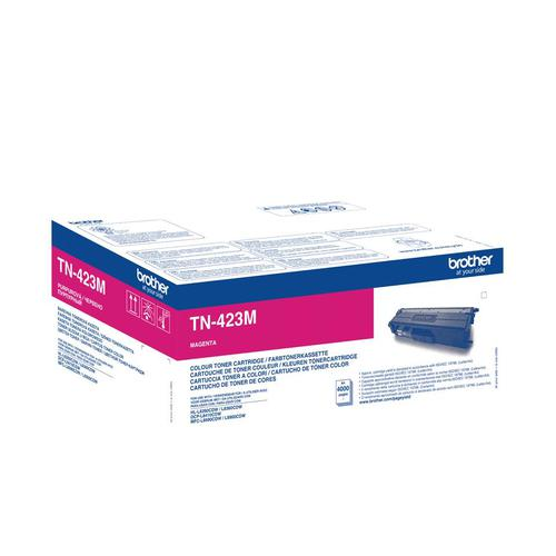 Brother TN423M Laser Toner Cartridge High Yield Page Life 6000pp Magenta Ref TN423M