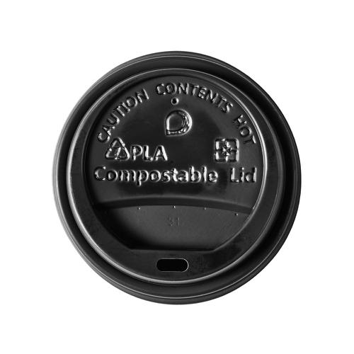 Ingeo Ultimate Eco Compostable CPLA Domed Sip-Through lid Ref 0511226 Pack [50]