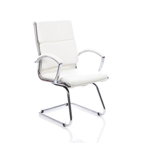 Adroit Classic Cantilever Chair With Arms White Ref BR000032