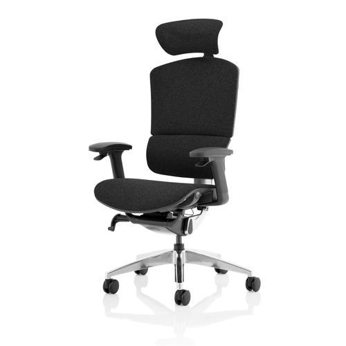 Trexus Ergo Click Plus Fabrimesh Headrest Black Ref PO000062