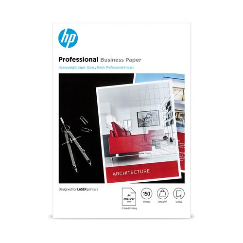 Hewlett Packard Laser Professional Photo Paper Gloss A4 200gsm Ref 7MV83A [150 sheets]