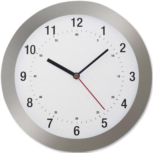 5 Star Facilities Wall Clock Radio Controlled Diameter 300mm Grey by The OT Group, 146980