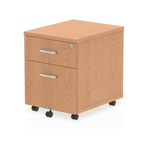 Trexus 2 Drawer Mobile Pedestal 430x500x510mm Oak Ref I000772