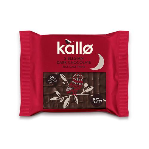 Kallo Gluten-free Rice Cake Thins Dark Chocolate Ref 0401167 [Pack 21]