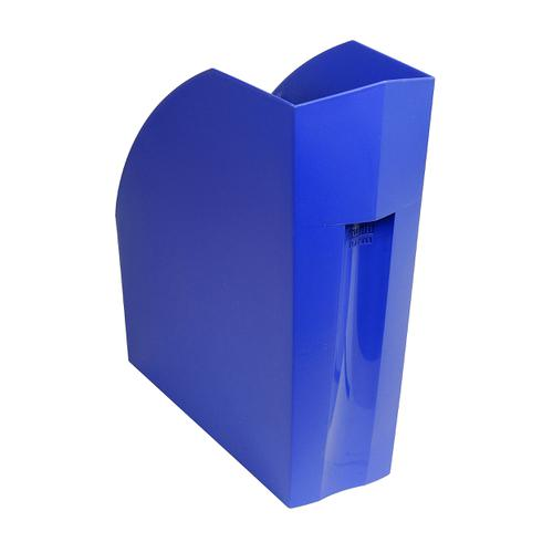 Exacompta Forever Magazine File Recycled Plastic W110xD292xH320mm Blue Ref 180101D