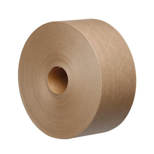 Reinforced Water Activated Kraft Tape Recycable 125gsm 70mmx100mtr Brown Ref KR7010B-GSI [Pack 16]