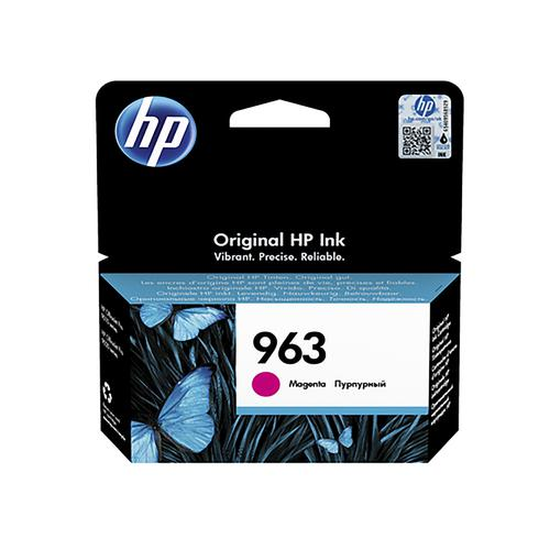 Hewlett Packard 963 Inkjet Cartridge Page Life 700pp 10.7ml Magenta Ref 3JA24AE