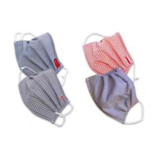 Reusable fabric face mask, 5ply washable [Pack of 2]