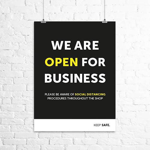 We Are Open For Business A3 Poster