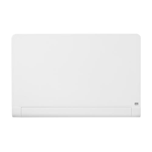 Nobo Widescreen 57 inch WhiteBoard Glass Rnd Cnr Magnetic Fixing Inc W1260xH710mm Brill White Ref 1905192