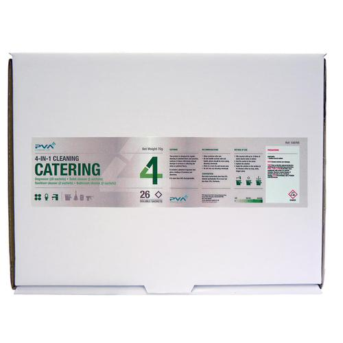 PVA Catering 4-IN-1 Cleaning Sachets Mixed Pack PK26 Ref C3