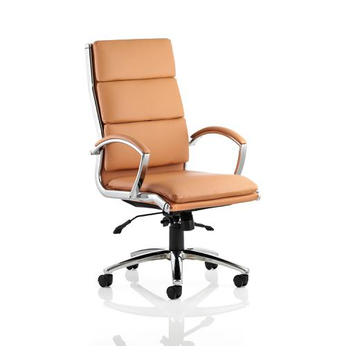 Adroit Classic Executive Chair With Arms High Back Tan Ref EX000008