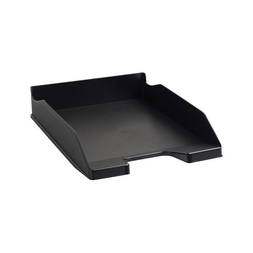 Exacompta Forever Letter Tray Recycled Plastic W255xD346xH65mm Black Ref 113014D