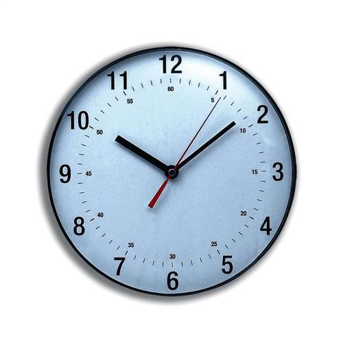 5 Star Facilities Wall Clock Diameter 250mm with White Face & Black Case by The OT Group, 149190