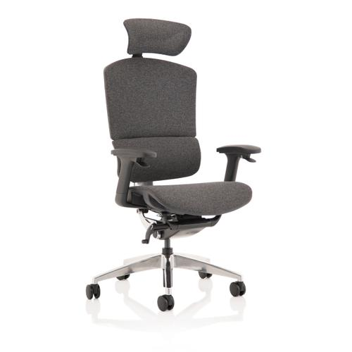 Trexus Ergo Click Plus Fabrimesh Headrest Grey Ref PO000064