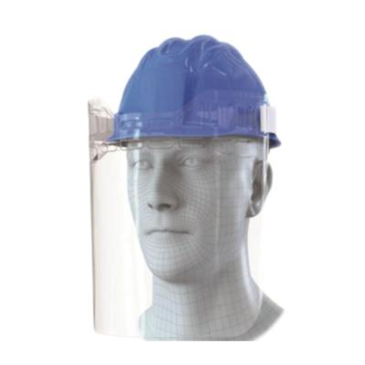 Face shield with construction option