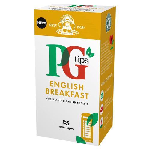 PG Tips Tea Bags English Breakfast Enveloped Ref 29013801 [Pack 25]
