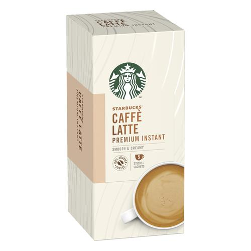 Starbucks Latte Sachets 6 Boxes Each with 5 x 70g Sachets Ref 12431777