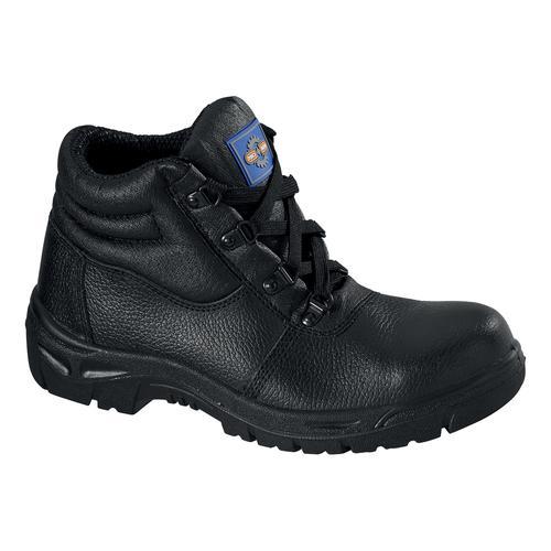 Chukka Boot Leather Steel Toecap & Midsole Size 4 Black Ref PM100 4