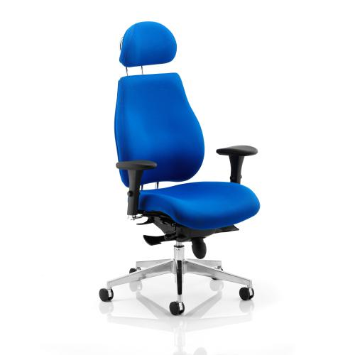 Sonix Chiro Plus High Back Head Rest Posture Chair Blue 495x520-560x470-540mm Ref PO000004