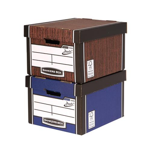 Bankers Box Premium Storage Box Presto Classic Blue FSC Ref7250603 [Pack 12] [12 for the price of 10]