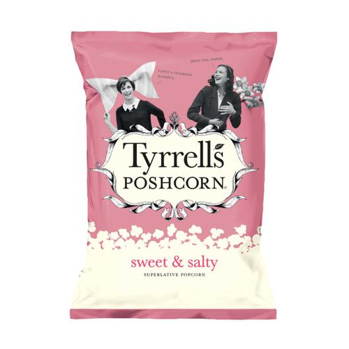 Tyrells Sweet & Salted Popcorn 80g Ref 701950 [Pack 12]