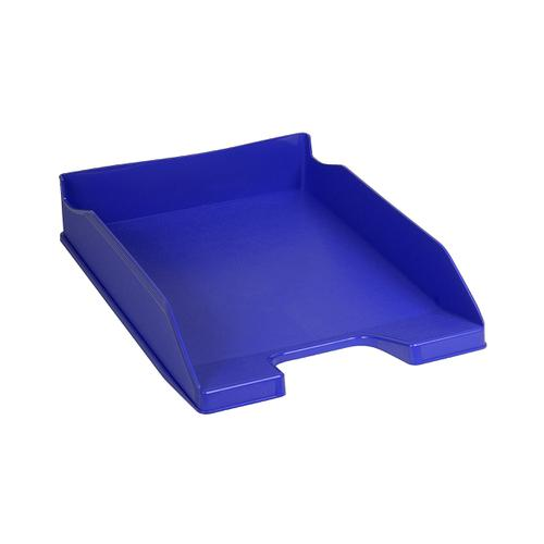 Exacompta Forever Letter Tray Recycled Plastic W255xD346xH65mm Blue Ref 113101D
