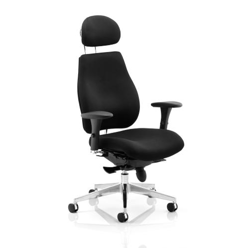 Sonix Chiro Plus High Back Head Rest Posture Chair Black 495x520-560x470-540mm Ref PO000002