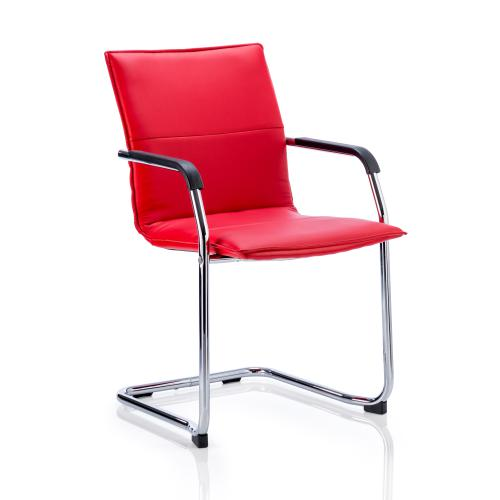 Sonix Echo Red Leather Chair 490x460x480mm Ref BR000037