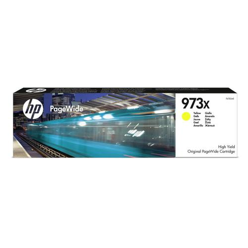 Hewlett Packard [HP] No.973X Inkjet Cartridge Page Wide HY Page Life 7000pp 86ml Yellow Ref F6T83AE