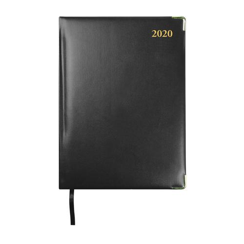 Collins 2020 Classic Manager Diary Day to Page Sewn Binding 190x260mm Black Ref 1200V 2020
