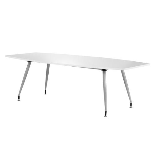 Sonix 2400x1200x800mm Boardroom Table High Gloss White Ref I000728
