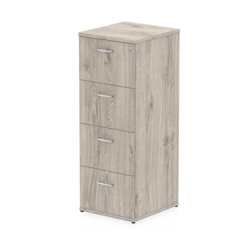 Trexus 4 Drawer Filing Cabinet 500x600x1445mm Grey Oak Ref I003243