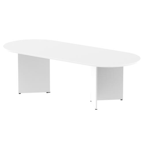 Trexus Boardroom Table 2400x1200x730mm Arrowhead White Ref MI002947