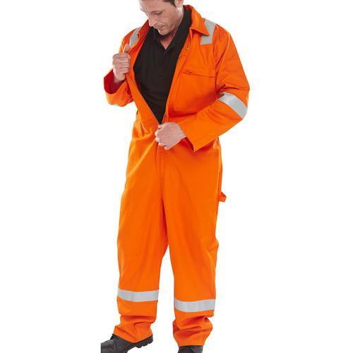 Click Fire Retardant Burgan Boilersuit Anti-Static Size 44 Orange Ref CFRASBBSOR44 *Up to 3 Day Leadtime*