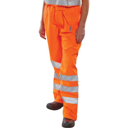 B-Seen Birkdale Over Trousers Polyester Hi-Vis L Orange Ref BITORL *Up to 3 Day Leadtime*