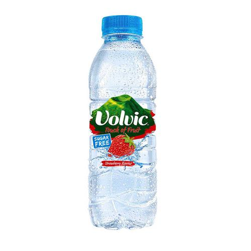 Volvic Natural Mineral Water Strawberry Still SF Plastic Bottle 500ml Ref 122440 [Pack 12]