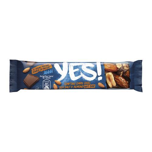 YES Dark Chocolate Seat Salt & Almond Nut Bar 32g Ref 12403827 [Pack 24]