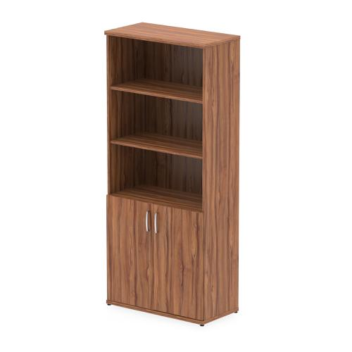 Trexus Cupboard Open Shelves 2000x800x400mm Walnut Ref I000107
