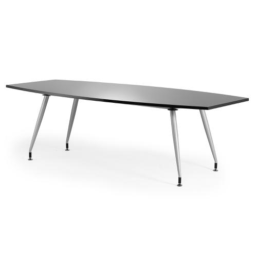 Sonix 2400x1200x800mm Boardroom Table High Gloss Black Ref I000729
