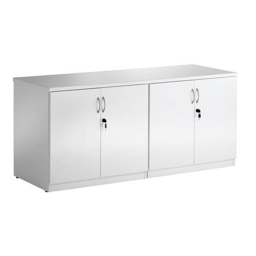 Sonix Credenza Cupboard High Gloss 1600x600x720mm White Ref I000908