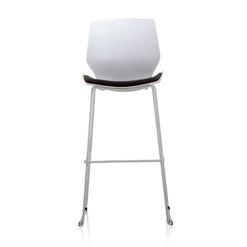 Trexus Florence High Stool Grey Fabric White Frame Ref BR000210