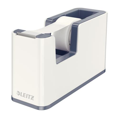 Leitz Tape Dispenser WOW Including Tape for rolls 19mmx33m White Ref 53641001