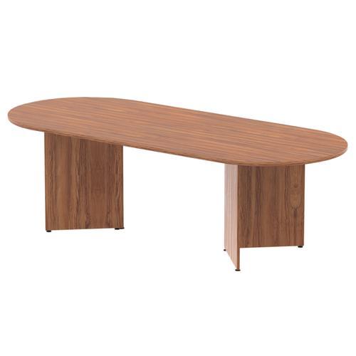 Trexus Boardroom Table 2400x1200x730mm Arrowhead Walnut Ref MI002932