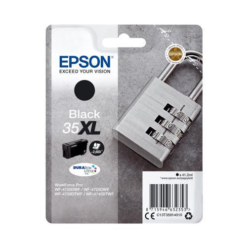 Epson 35XL Inkjet Cartridge High Yield Page Life 2600pp 41.2ml Black Ref C13T35914010