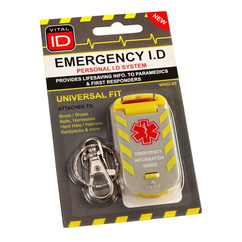 Vitalid Emergency ID Universal Fit Tag Wsid-05 Ref WSID05 *Up to 3 Day Leadtime*