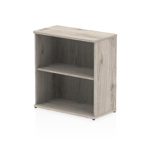 Trexus Office Low Bookcase 800x400x800mm 1 Shelf Grey Oak Ref I003227