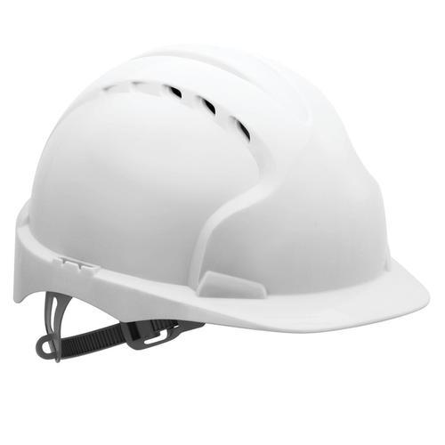 JSP EVO2 Safety Helmet HDPE 6-point Polyethylene Harness EN397 Standard White Ref AJF030-000-100
