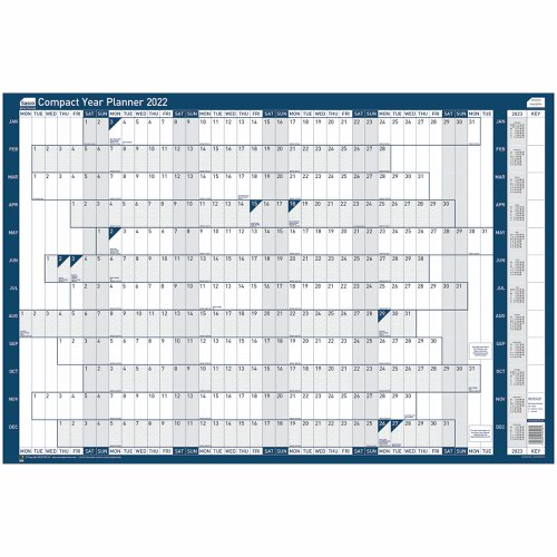 Sasco 2022 Compact Year Planner Unmounted Landscape 610x410mm Ref 2410158